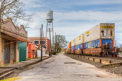 Train going through Richmond, Texas