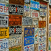 License Plates at Luckenhach Texas