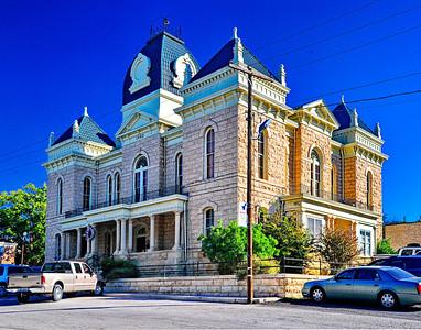 Crockett County Courthouse, Ozona, Texas designed by Oscar Ruffini