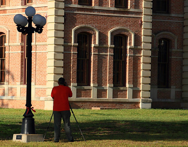 Photographing the Wharton County Courthouse