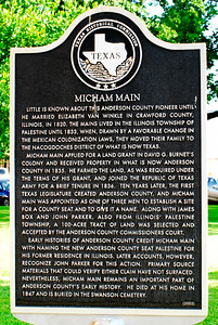 Texas Historical Commission Plaque:  Micham Main