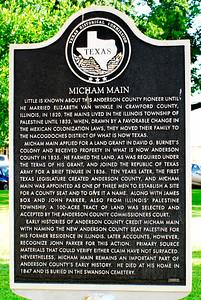 Texas Historical Commission Plaque:  Micham Main