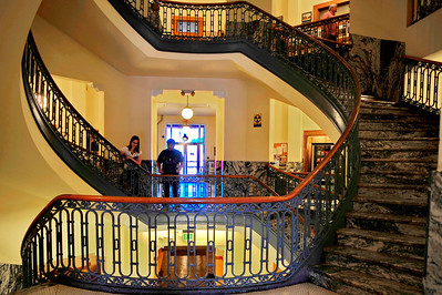 Interior;  Wrought Iron Staircase and Citizens