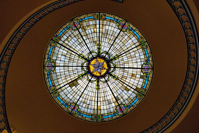 Dome and Stained Glass Ceiling