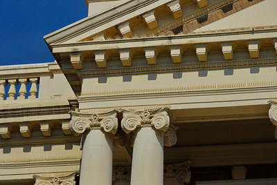 Exterior Details:  Pediment and Columns