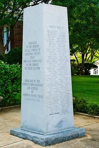 Veterans Memorial:  World War II