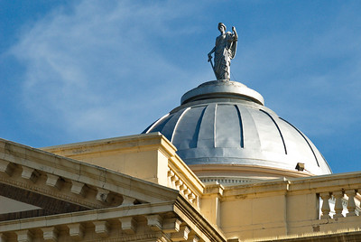 Dome and Statue of Lady Justice