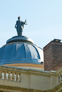 Dome and Lady Justice Front View