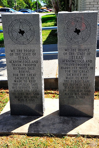 Peace Officers Memorial Markers in Front of the Courthouse