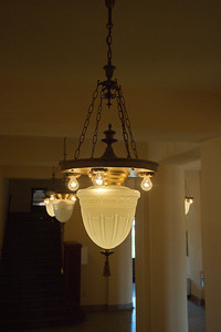 Light Fixture in the Courthouse Hallway