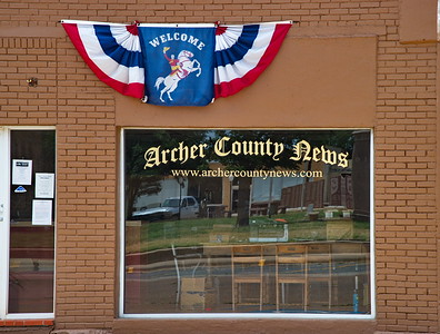 Archer County News, One of the Businesses on the Courthouse Square