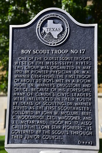 Texas Historical Commission Marker:  Boy Scout Troop No. 17