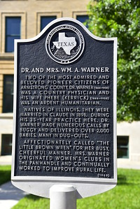 Texas Historical Commission Marker:  Dr. and Mrs. William A. Warner