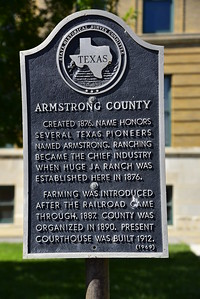 Texas Historical Survey Committee Marker:  Armstrong County