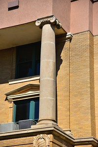 Exterior Details;  Front Column of the Courthouse