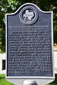 Texas Historical Commission Marker:  The Great Panhandle Indian Scare