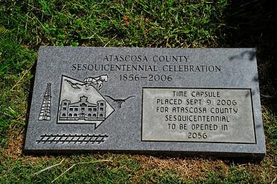 Atascosa County Sesquicentennial Celebration Time Capsule Marker