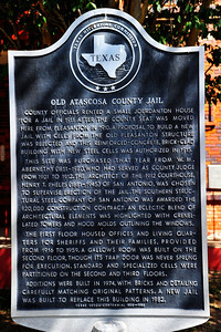 Texas Historical Commission Marker:  Old Atascosa County Jail