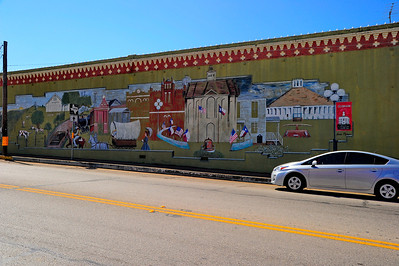 Mural of Austin County on one of the Buildings