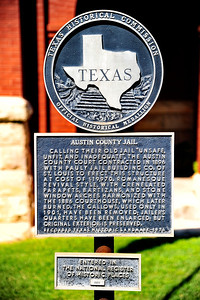 Texas Historical Commission Historical Marker:  Austin County Jail