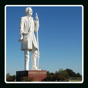 Statue of Stephen F. Austin in Brazoria County along SH288