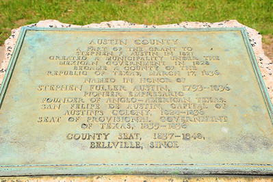 Austin County Marker from the 1936 Marker