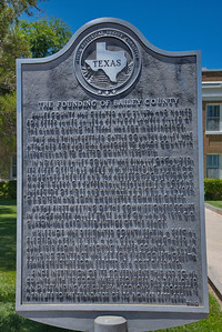 Texas Historical Commission Marker:  The Founding of Bailey County