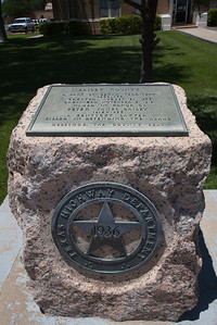Texas Highway Dept 1936 Marker for Bailey County