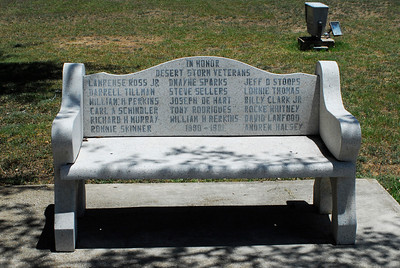 Desert Storm Veterans Memorial Bench