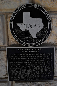 Texas Historical Commission Marker:  Bandera County Courthouse