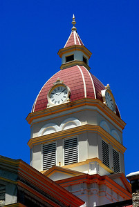 Courthouse Clock Tower with Painted on Hands