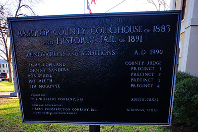 Bastrop County Courthouse & Jail Plaque