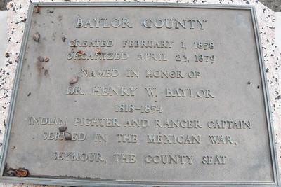 Baylor County Historical Marker