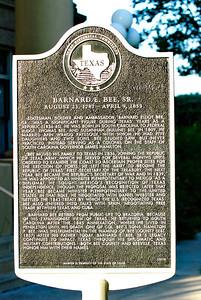 Texas Historical Commission Marker:  Barnard E. Bee, Sr.
