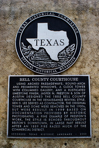 Texas Historical Commission Marker:  Bell County Courthouse
