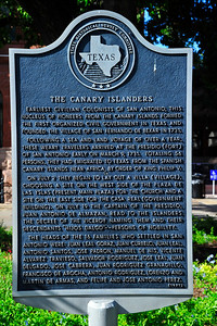 Texas Historical Commission Marker:  The Canary Islanders