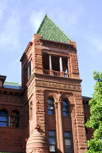 Green Tile Roof Courthouse Tower