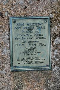 Zero Milestone Old Spanish Trail Marker