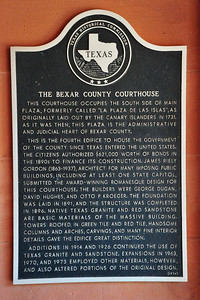 Texas Historical Commission Marker:  The Bexar County Courthouse