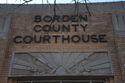Borden County Courthouse with Art-Deco Design