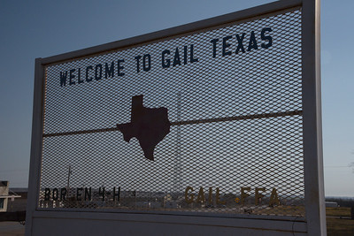 Welcome to Gail, Texas Sign
