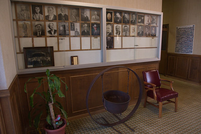 Interior of Courthouse;  Photos of Prominent Citizens