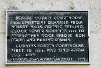 Texas Historical Commission Marker:  Bosque County Courthouse
