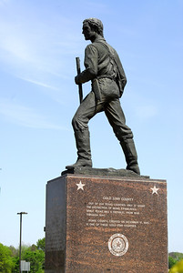 Statue of Jim Bowie in Front of Courthouse