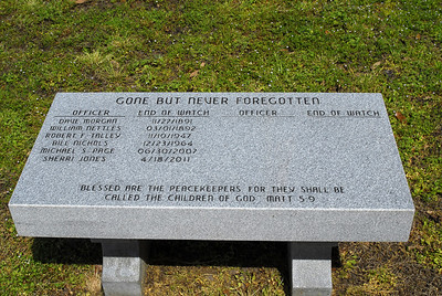 Bowie County Peace Officers Memorial Bench