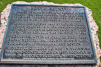 Historical Marker:  Bowie County