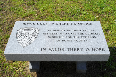 Bowie County Sheriff's Office Memorial for Fallen Officers