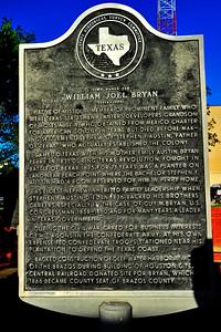 Texas Historical Commission Marker:  William Joel Bryan