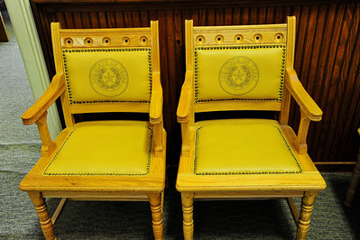 Hallway Chairs with State of Texas Seal