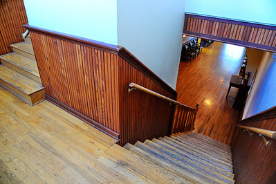 Stairwell and Hardwood Floors